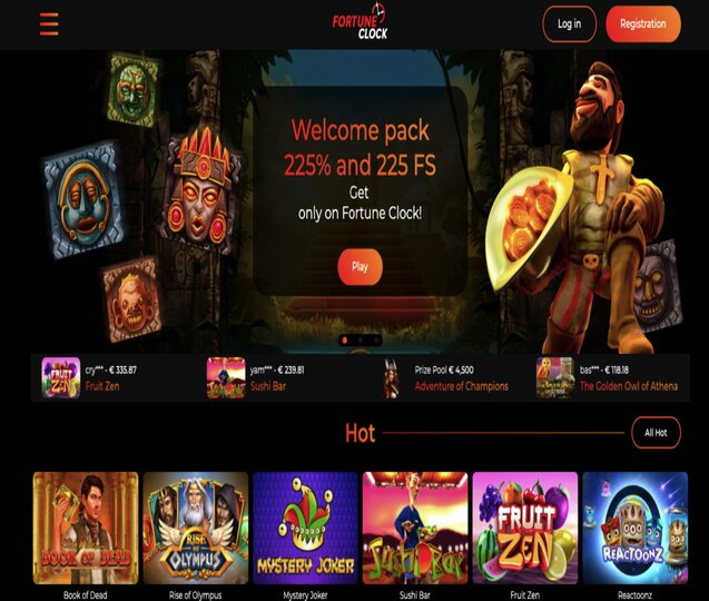 Fortune Clock Curacao Online Casino Provides Unlimited Deposit Option